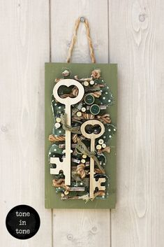 H.O.M.E. #Dress #Up #Your #Door or #Wall with this #DIY #nature #green #keys #handmade #interior #decoration | by toneintone Bottle Opener, Keys, Decoration, Interior, Wall, Green, Nature, Handmade, Home