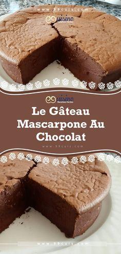 Le gâteau mascarpone au chocolat – 99 Cuisine