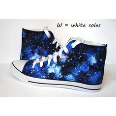 Custom handpainted galaxy sneakers,personalized shoes, galaxy... ($39) ❤ liked on Polyvore featuring shoes, sneakers, galaxy shoes, black sneakers, cosmic shoes, planet shoes and nebula shoes