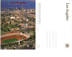 € 1,20 - code : USA-004 - Los Angeles - Coliseum - stadium postcard cartolina stadio carte stade estadio tarjeta postal