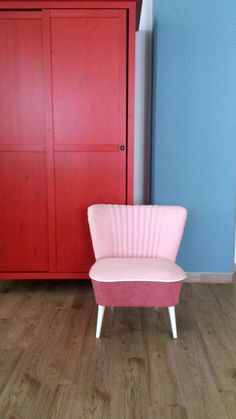 Mauve Lounge Chair medium from 70's by updatechair on Etsy