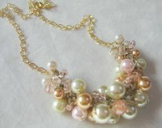 FIVE BRIDAL PARTY Necklaces Reserve for Michelle by SerebaDesigns, $200.00
