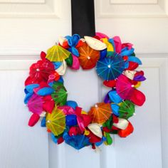 Pool party wreath