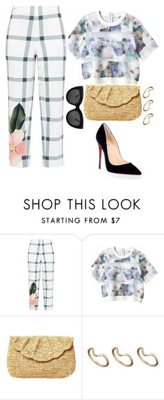 """Tyecha-stylecloset"" by tyecha-stylecloset on Polyvore featuring Ted Baker, Rebecca Taylor, Mar y Sol, ASOS, Christian Louboutin, Clutch, Pumps and christianlouboutin"