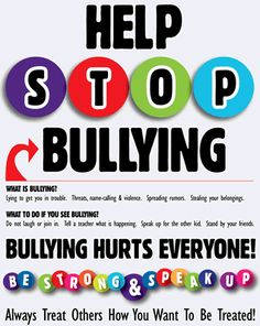 Anti-Bullying Efforts Must Be Community-Wide, No Exceptions - My School Folders Bullying Posters, Bullying Quotes, Stop Bullying, Anti Bullying, Bullying Lessons, Anti Bully Quotes, School Folders, Bible Object Lessons, Student Info