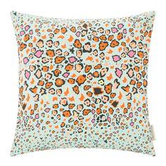 Discover the A by Amara Leopard Lights Cushion - 50x50cm - Kingfisher at Amara