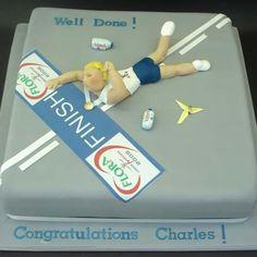 Finish line cake