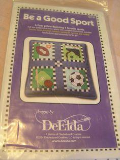 Floor Pillow Kit DeElda Four Sport QUI30 Full by SevenSistersBooks