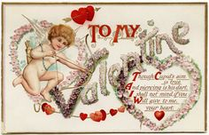 Old Design Shop ~ free digital image: vintage cupid Valentine postcard