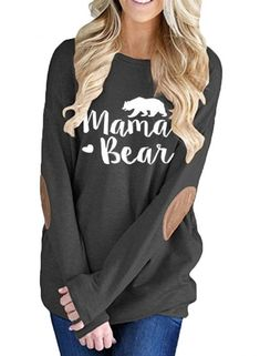 Women's Letter Printed Long Sleeve Pullover Tee jumper, sweater, top, cosy, long and loose, keep warm this winter #sale Roawe Green Monday Sale!Save $7 Off $55 with Code:GREEN affiliate link