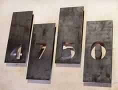 The Monroe House Numbers - Steel Modern Metal Address Plaque Plate Door Numbers, Address Numbers, Address Plaque, House Numbers, Address Signs, Home Wooden Signs, Home Signs, House Number Plates, Steel House