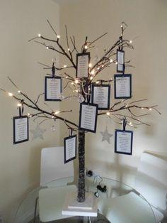 Plan de table mariage arbre                                                                                                                                                                                 Plus