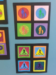 Liikennemerkeistä Transportation Crafts, Andy Warhol, Teaching Art, Pop Art, Arts And Crafts, Frame, Decor, Education, School