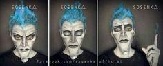 Hades (Makeup) from Hercules Cosplayer: Sosenka Cosplay Diy, Cosplay Makeup, Costume Makeup, Best Cosplay, Cosplay Ideas, Mens Halloween Makeup, Halloween Men, Creepy Halloween, Halloween Ideas