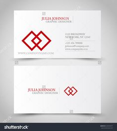 Business Card Set Template. Red Color. Corporate Identity Vector Illustration. - 265025477 : Shutterstock