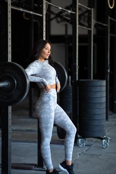 The Camo Collection has a complete, innovative soft seamless fabric and all-over jacquard camo pattern which provides a supportive, high waisted fit and flattering performance for every training session. Amazing Women, Camo, Sportswear, Sporty, Training, Leggings, Crop Tops, Grey, Fitness