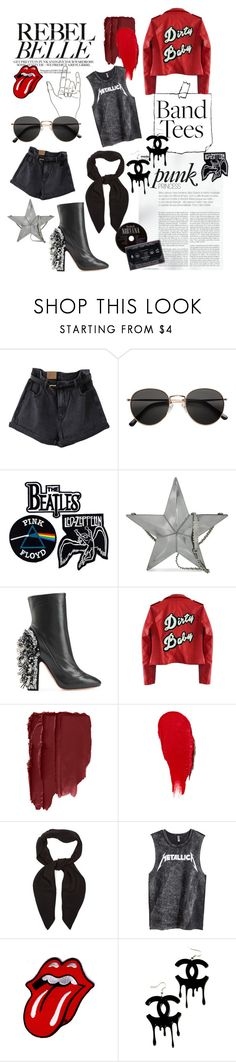 """Metallica"" by libbylu116 ❤ liked on Polyvore featuring H&M, Floyd, Moschino, Rochas, High Heels Suicide, Chloé and Chanel"