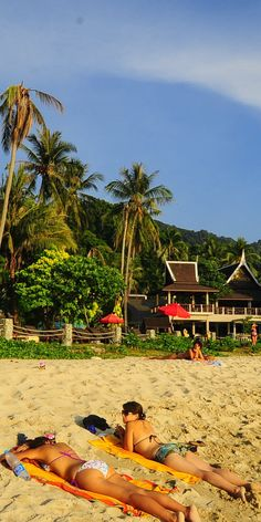 beach front at Bhumiyama Beach Resort Koh Chang, Ta Nam Beach (Lonely Beach), Thailand