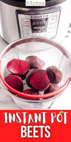 Instant Pot Beets take 20 minutes to cook in your pressure cooker and come out super tender and delicious. It is the easiest way to cook beets, I promise! Healthy Family Meals, Healthy Meal Prep, Quick Meals, How To Peel Beets, Soup Broth, Cooking Beets, Meal Prep For The Week, Recipe Please, Love Eat