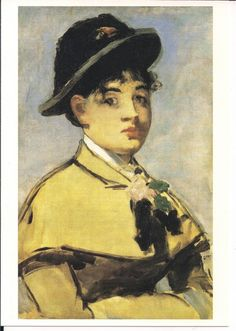 Eduard Manet: Jeune femme à la pèlerine, Jeanne Demarsy (1881) - Musée Des Beaux Arts de Lyon