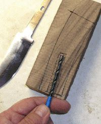 How to make a knife handle