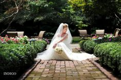 Charlotte Wedding Photographers - Indigo Photography Blog: Allison's Bridal Session, Duke Mansion, Charlotte NC