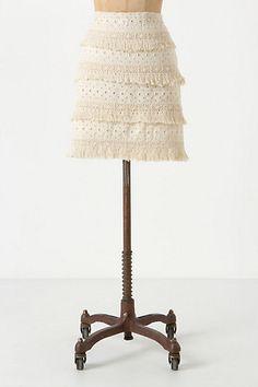 #anthropologie.com        #Skirt                    #Tiered #Fringe #Skirt    Tiered Fringe Skirt                                 http://www.seapai.com/product.aspx?PID=1416414