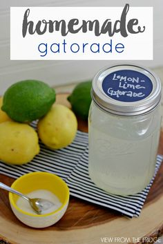Homemade Electrolyte Sports Drink. Like Gatorade ... only much healthier! | Via View From The Fridge