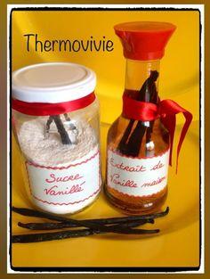 Les fêtes approchent... Il est temps de préparer le sucre vanillé et l'extrait de vanille qui embaumeront les gourmandises de Noël... Et pourquoi pas les offrir en cadeaux à ceux qui n'ont pas le thermomix? En plus, rien de plus facile... Ingrédients...