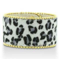 Black and White Cheetah Print Cuff Bracelet SuperJeweler. $5.49. Length 8 in.. Save 86%!