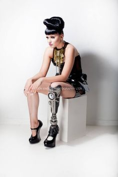 Viktoria Modesta...her prosthetics are beyond fabulous.