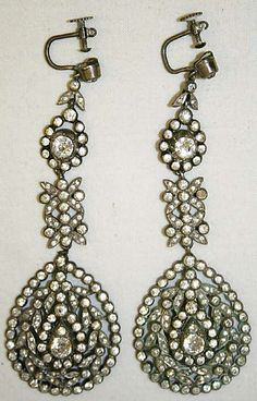 Earrings late 18th century French