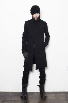 #Black #Boots #Coat #Men's #Style #Look #Beanie