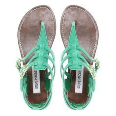 Steve Madden Flat Saahara Sandals ❤ liked on Polyvore