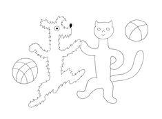 Omalovánka- O pejskovi a kočičce