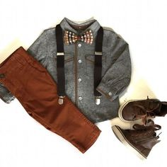 Boys bow tie and suspenders set Fall boys outfit leather suspenders little boy fashion boys Thanksgiving outfit cool boys clothes hipster trendy kids clothes little boy style family pictures outfit fall wedding outfit fall family photos - July 28 2019 at Fashion Kids, Toddler Boy Fashion, Little Boy Fashion, Style Fashion, Fashion Wear, Trendy Fashion, Girl Fashion, Fashion Dresses, Swag Fashion