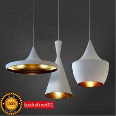 New  Design White Beat Light Pendant Lamp Ceiling Lighting Fixture X 3 Lights A #Modern