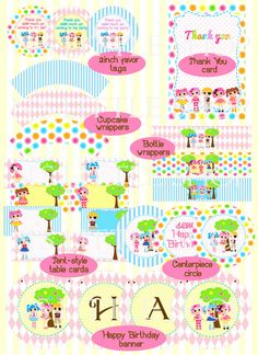 Button Doll Party printable party All you need to by nslittleshop, $19.50