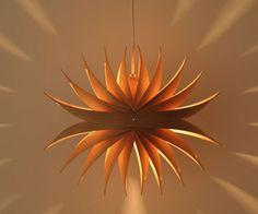 Absolutely beautiful lamp shades designed by Toshiyuki Tani.