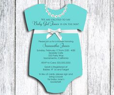 Tiffany & Co inspired Onesie Baby Shower Invitation - set of 20 on Etsy, $30.00