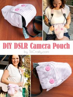 I don't know about you, but I love sewing for Easter. Here's not one bunny sewing pattern, but 20 free sewing patterns Easy Sewing Projects, Sewing Projects For Beginners, Sewing Hacks, Sewing Patterns Free, Free Sewing, Free Pattern, Camera Pouch, Camera Case, Camera Tips