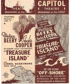 1934 Capitol Theatre Program TREASURE ISLAND & BOB HOPE | eBay