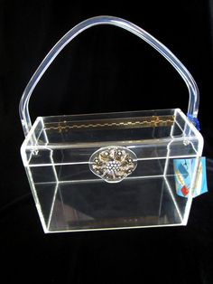 1950's Wilardy Clear Lucite Handbag