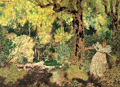 Misia dans le bois by Edouard Vuillard Pierre Bonnard, Edouard Vuillard, Avant Garde Artists, Dramas, Post Impressionism, Japanese Prints, Female Art, Art History, Modern Art