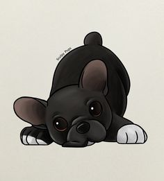 French Bulldog puppy drawing by SculpyPups.deviantart.com on @DeviantArt
