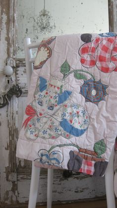 Vintage baby blanket/quilt.  Super soft and sweet!  1950's baby animals.  Available @ jemsbyjennym.etsy.com