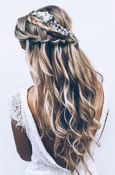 Long hair wedding inspiration
