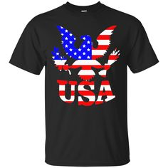 American Pride T-Shirts, Hoodies Flying Eagle With USA