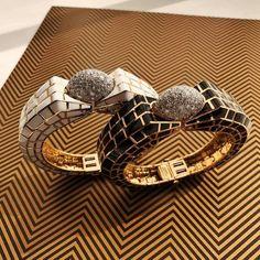 @davidwebbjewels. Black and white enamel bracelets from @davidwebbjewels. ✨✨