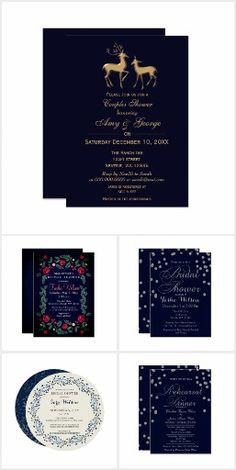 Navy Bridal Shower Invitations Fun wedding invites. Customize invitations for your weddings. #invitations #invites #weddings   #bridal - Affiliate ad link.